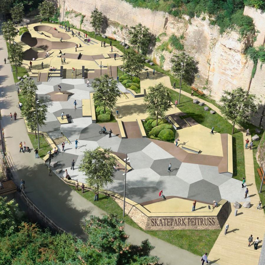 Skatepark p itruss ville de luxembourg grand opening for Piscine luxembourg ville